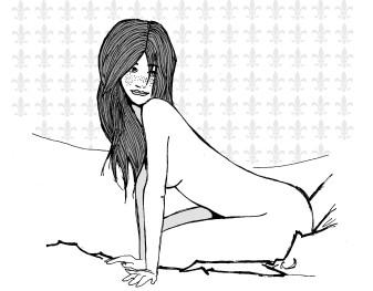 dessin_brune_nue_fille